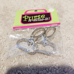 2pcs Purse n-alize-it Silver Large Swivel Clasp Craft accessory supply New