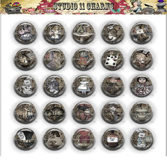 25pcs 25mm 1 inch Bottle Cap Resin Cameo Cabochon. Alice in Wonderland 42bc