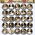 25pcs 25mm 1 inch Bottle Cap Resin Cameo Cabochon.  Art 2b Lady Portrait