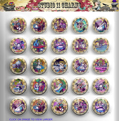 25pcs 25mm 1 inch Bottle Cap Resin Cameo Cabochon. Alice In Wonderland 2 clock