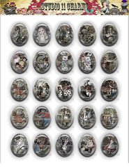 40x30, 18x25, 13X18 Resin Cameo LOW DOME Cabochon. Alice in Wonderland 15b