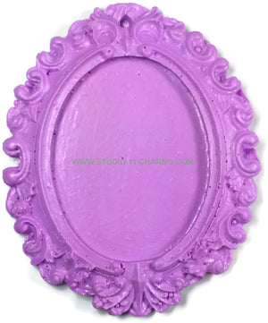 Resin Frame Setting Bezel Victorian Vintage Style Oval fit 40x30 center Purple 1.5