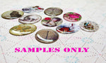 25mm 1 inch Bottle Cap Resin Cameo Cabochon. Angel Gothic 1c