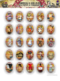 40x30, 18x25, 13X18 Resin Cameo LOW DOME Cabochon. Alice in Wonderland 42c poison label
