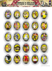 40x30, 18x25, 13X18 Resin Cameo LOW DOME Cabochon. Alice in Wonderland 42g