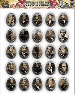 40x30, 18x25, 13X18 Resin Cameo LOW DOME Cabochon. Abraham Lincoln 1b