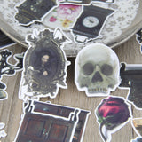 28pcs Stickers Gothic Victorian Laboratory Skull antique Furniture Scrapbooking Floral DIY Craft Embellishment