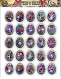 40x30, 18x25, 13X18 Resin Cameo LOW DOME Cabochon. Alice in Wonderland 2 Color
