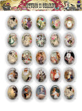 40x30, 18x25, 13X18 Resin Cameo LOW DOME Cabochon. Alice in Wonderland 20