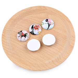 Flower Girl Dome Glass Cabochon 12mm 14mm 20mm 25mm Jewelry Findings Accessories