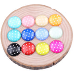 Polka Dot Round Dome Glass Cabochon 10mm 12mm 14mm 18mm 20mm Jewelry Findings Accessories