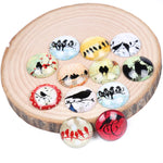 Bird Silhouette Round Dome Glass Cabochon 20mm 12mm 14mm 18mm 25mm Jewelry Findings Accessories