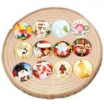 Christmas Round Dome Glass Cabochon 25mm 20mm 12mm 18mm Jewelry Findings Accessories