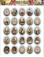 40x30, 18x25, 13X18 Resin Cameo LOW DOME Cabochon. Alice in Wonderland 5 Reverse Clock