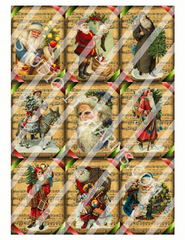 Plastic Tags and Stickers. Santa music tags