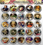25mm 1 inch Bottle Cap Resin Cameo Cabochon. Art 4 Men Portrait