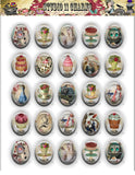 40x30, 18x25, 13X18 Resin Cameo LOW DOME Cabochon. Alice in Wonderland 6 Tea Party