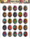 40x30, 18x25, 13X18 Resin Cameo LOW DOME Cabochon. Anatomy 5 Raw Hearts