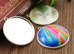 30mm Inner Size 6 Colors Plated Classic Style Base Setting Charms Pendant