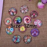 Mixed Party Style Round Dome Glass Cabochon 8mm 10mm 12mm Jewelry Finding Cameo Pendant Settings