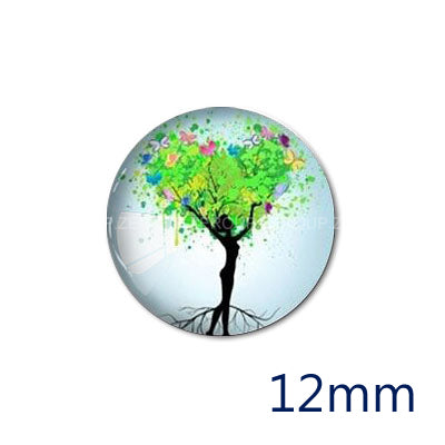 12mm 20mm 25mm 30mm Tree Branch Girl 12mm 20mm 25mm 30mm DIY Handmade Round Glass Cabochon Dome Jewelry Finding Settings