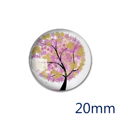 12mm 20mm 25mm 30mm DIY Round Photos Glass Cabochon Body Jewelry Finding Fit Cameo Blank Settings