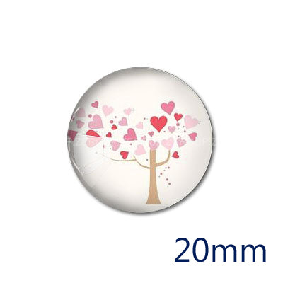 12mm 20mm 25mm 30mm Heart Tree DIY Handmade Round photos Glass Cabochon Body Jewelry Finding Fit Cameo Blank Settings