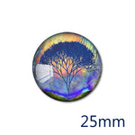 12mm 20mm 25mm 30mm Round Glass Cabochon Majestic Tree Design Jewelry Finding Fit Cameo Blank Settings