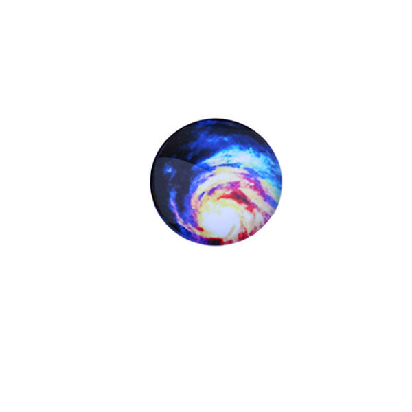 12mm 14mm 16mm Round Glass Cabochon Colorful Galaxy Pictures Handmade Dome Cover DIY Ornament Settings