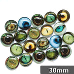 30mm 35mm Round Glass Cabochons Mixed High Resolution Animal Eyes Pictures Jewelry Accessories Supplies