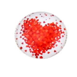 20mm Round Glass Cabochon Mixed Heart Designs Jewelry Accessories Cameo Finding Settings