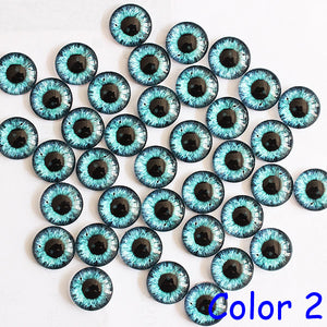 Dragon Eyes Round Glass Cabochon 20mm Jewelry Finding Cameo Pendant