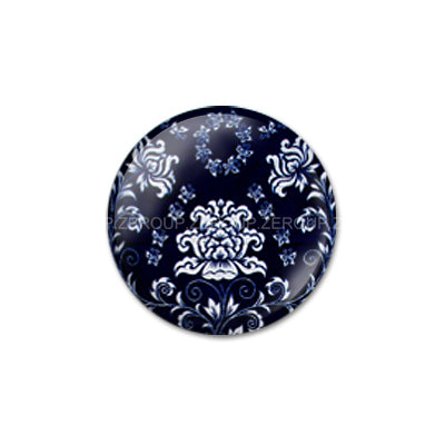10mm 12mm 14mm 16mm 18mm 20mm 25mm 30mm Blue Floral Round Glass Cabochon Jewelry Finding Fit Cameo Blank Settings