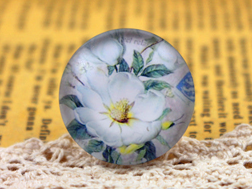 25mm Round Glass Cabochons Tree And Flower And Animal Design Patterns Cameo Fit Finding Settings