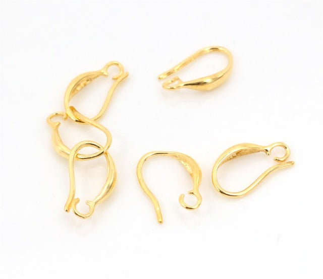 15x9mm High Quality Classic 7 Colors Plated Brass French Earring Hooks Wire Base Setting