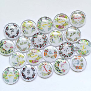 10mm 12mm Clock Glass Mixed Round Cameo Cabochon Setting Supplies