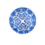 12mm 14mm 16mm Round Glass Cabochon Blue Pattern Design Handmade Photo Cover DIY Ornament Settings