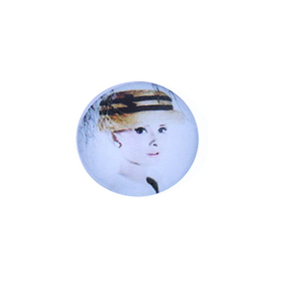 12mm 14mm 16mm Round Glass Cabachon Beautiful Girl Pictures Handmade Photo Dome Cover DIY Ornament Settings