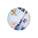 12mm 14mm 16mm Round Glass Cabochon Statue Of Liberty Pictures Handmade Photo Dome Cover DIY Ornament Settings