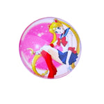 12mm 14mm 16mm Round Glass Cabochon Mixed Sailor Moon Pictures    Handmade Photo Glass Cabochons & Glass Dome Cover DIY Ornament Settings