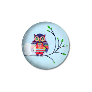 10mm 12mm 14mm 16mm 18mm 20mm 25mm 30mm Owl Cartoons Round Glass Cabochon Jewelry Finding Fit Cameo Blank Settings Supplies