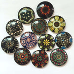 10mm 12mm Colorful Glass Cabochon Mixed Round Cameo Cabochon Setting Supplies for Jewelry Accessories