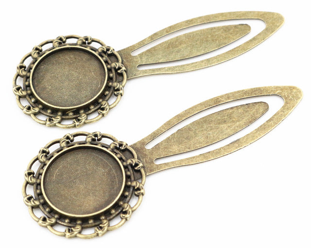 20mm Inner Size Antique Silver Bronze Style Handmade Bookmark Fit Base Setting