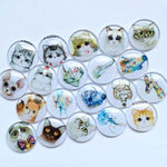 10mm 12mm Colorful Mixed Glass Cabochon Round Cameo Cabochon Setting Supplies