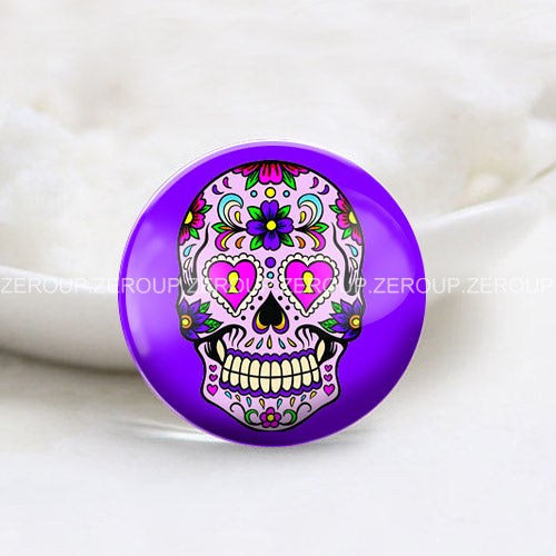 10mm 12mm 14mm 16mm 18mm 20mm 25mm 30mm Skull Girl Round Glass Cabochon Jewelry Finding Fit Cameo Blank Settings Supplies