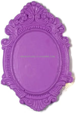 12 Resin Frame Setting Bezel Victorian Vintage Style fit 40x30 cameo 4.5 Purple