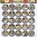25mm 1 inch Bottle Cap Resin Cameo Cabochon. Alfred Mucha 3b Art Deco