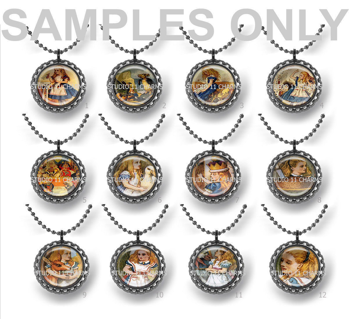 25mm 1 inch Bottle Cap Resin Cameo Cabochon. Animal 8 Children