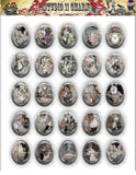 40x30, 18x25, 13X18 Resin Cameo LOW DOME Cabochon. Alice in Wonderland 20b