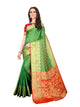 Green Kanjivaram Silk Saree for Ladies